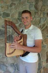 Mark showing our 22-Travel Harp