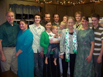 Marini family with Sue's mother