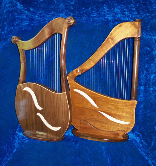 Lyre & Lute Harp backs