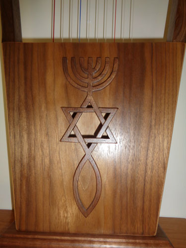 Messianic symbol on a 10-string Kinnor