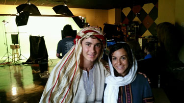Paul (as the brother) with actor/friend Natalie (as his sister)
